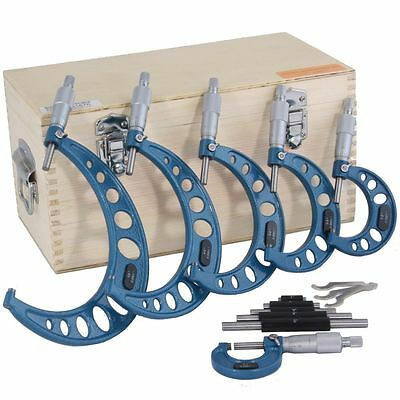 0-6 Outside Micrometer Set Machinist Tool Carbide New