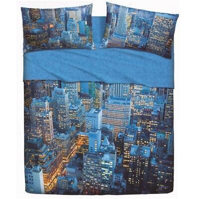 Set lenzuola letto singolo 1 piazza BASSETTI MANHATTAN effetto copriletto