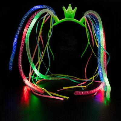 LED Light-Up Crazy Hair, Noodle Hair, Flashing Hair, Spaghetti Hair, Dreadlocks - Led Dreadlocks