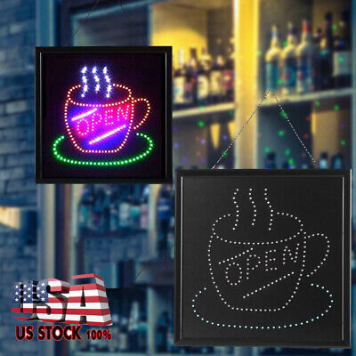 Animated Motion Led Business Open Sign Onoff Switch Bright Display Light Board
