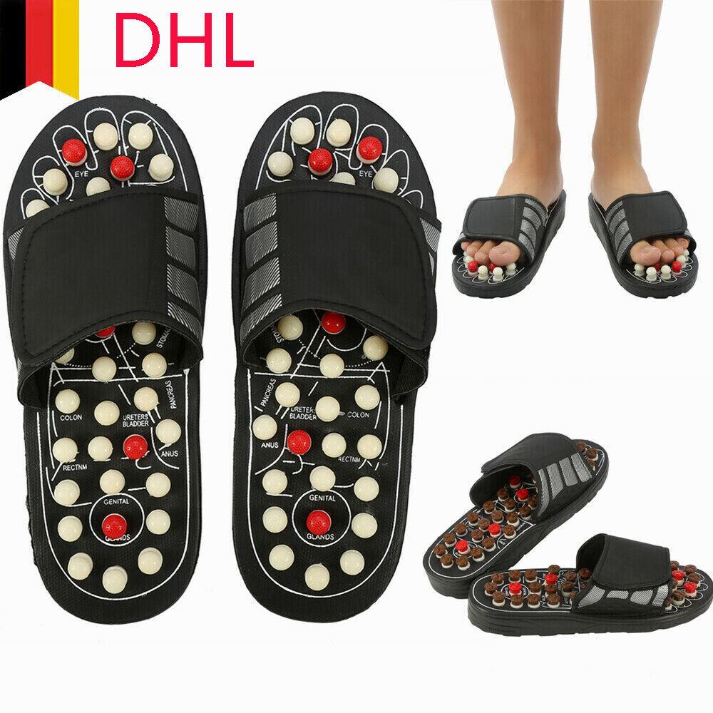 Massage Hausschuhe Sandalen Füße Reflexzonenmassage Akupressur Fußmassage DHL
