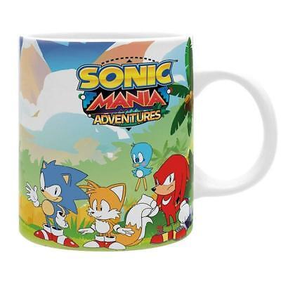 Sega - Sonic Mania Adventures - Keramik Tasse - Knuckles und Tails Vs Dr. Eggman (Sonic Und Tails)