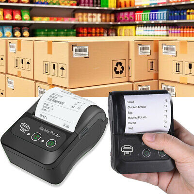 Portable Usb Wireless Bt 58mm Thermal Receipt Printer Mobile Pos Label Printer