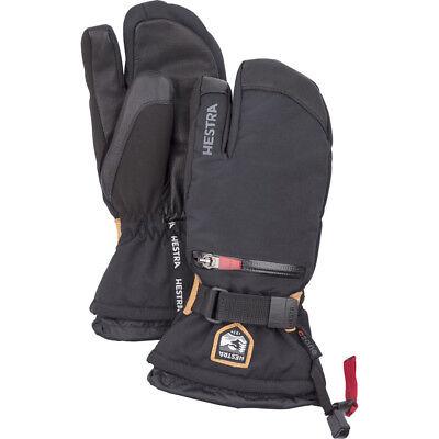 Hestra All Mountain C-Zone 3-Finger Kids Youth Ski Gloves, Black