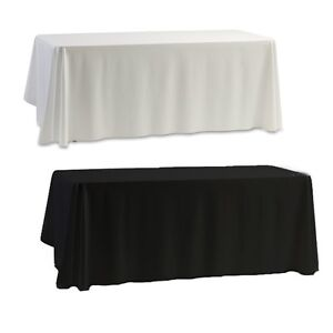 145x145CM-Black-White-Banquet-Wedding-Birhtday-Party-Trestle-Tablecloths-Cover