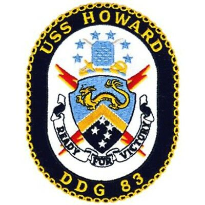 US NAVY USS HOWARD DDG 83 SHIP CREST Military Patch