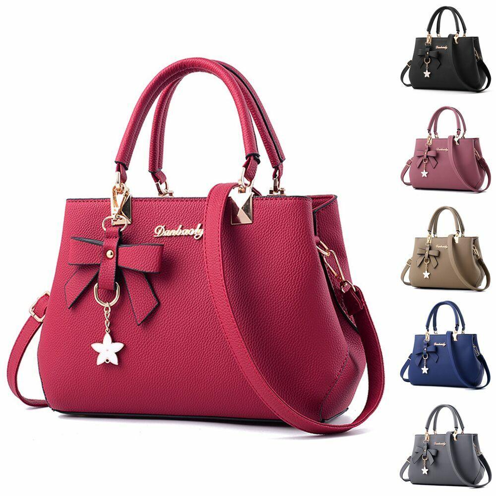 Women Lady Leather Handbag Shoulder Bag Purse Tote Messenger Satchel Crossbody