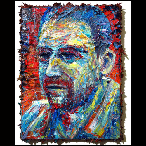 ORIGINAL OIL PAINTING IMPRESSIONISM ART POP REALISM SIGNED FOLK ABSTRACT DECO A
