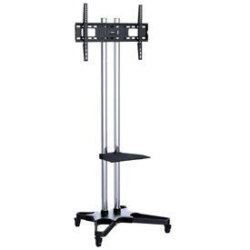 """TV Floor Stand with Shelf and AV Wheels for 37""""-70"""" TVs"""