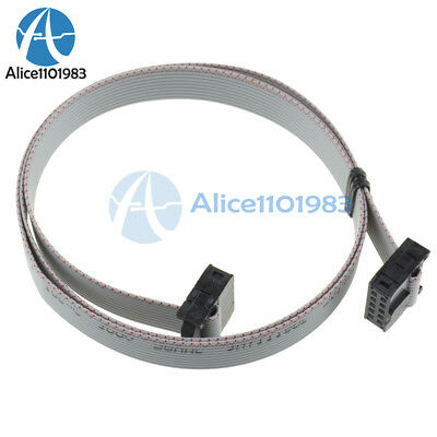 10pcs 70cm 10 Pin Usbisp Usbasp Jtag Avr Download Wire 10p Ribbon Cable 2.54mm
