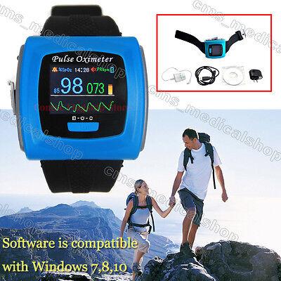 New Wrist Pulse Oximeter Spo2 Monitor Daily And Overnight Sleep Ce Fdausb