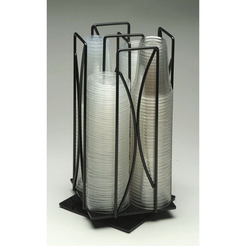 """Cal-Mil  Black Wire Revolving Cup Organizer - 16""""H, 369"""