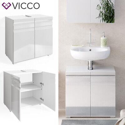 VICCO Waschbeckenunterschrank FREDDY weiß hochglanz Unterschrank Badschrank