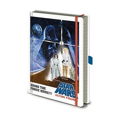Genuine Star Wars Action Figures A5 Premium Hardback Journal Notebook Note Pad