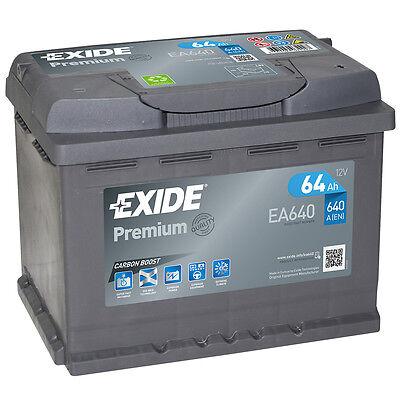 Boost-batterie (Autobatterie 64AH 12V 640A/EN Exide EA640 statt 54Ah 56Ah 60Ah 62Ah 63Ah 65Ah )
