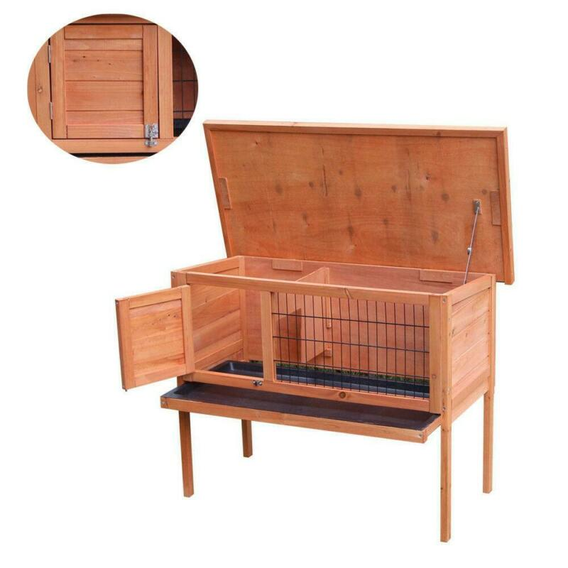 "36""Waterproof Wooden Chicken Coop Hen House Pet Animal Poultry Cage Rabbit Hutch"