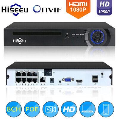 Hiseeu 8CH PoE NVR Network Video Recorder for CCTV Surveillance IP Camera E5J2