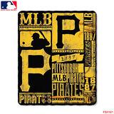 "New Northwest MLB Pittsburgh Pirates Large Soft Fleece Throw Blanket 50"" X 60"""