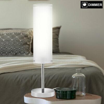 LED Escritorio Luz Lámpara Cristal Blanco Noche Lectura Ess Habitación Regulador