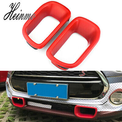 Red Front Bumper Brake Air Duct Cover Trims For MINI Cooper R60 Countryman - Front Bumper Brake