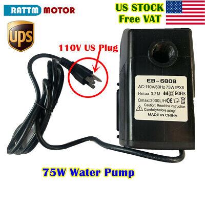 Usa75w Cnc Spindle Motor Water Pump 3.2m 110vac For Cnc Machine 3000lh