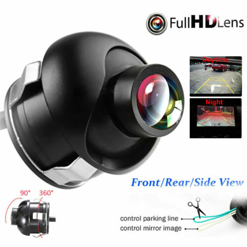 Car Rear Front Side View 360° Rotatable CCD Reversing Backup Camera Night Vision