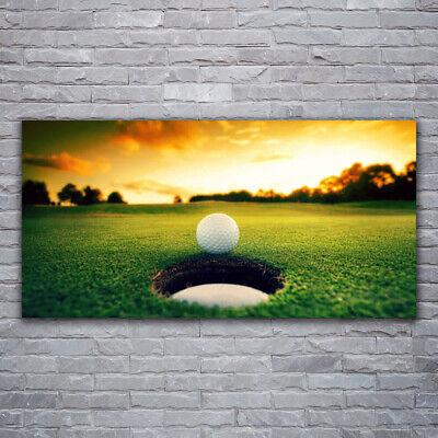 Tulup Imagen en vidrio Impresión Cuadro de 120x60 Pelota de golf Naturaleza