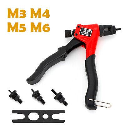 Pop Riveter Gun Set Blind Rivet Hand Tool Kit Gutter Repair Heavy Duty For M3-m6