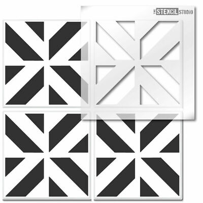 Chevron Cube Reusable Tile STENCIL. Floor, wall for painting. Home Decor 10830
