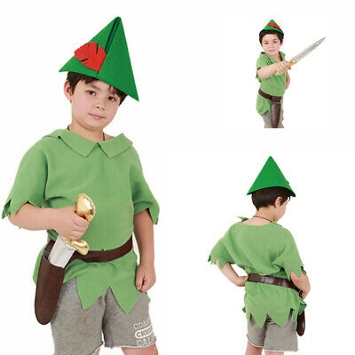 Peter Pan Kids Halloween Costume Outfit with  Hat Bet and Sword](Peter Pan Sword)
