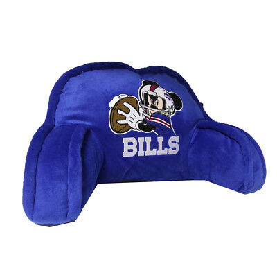 Northwest NFL Buffalo Bills Mickey Mouse Embroidered Bed Rest Pillow Buffalo Bills Nfl Bed