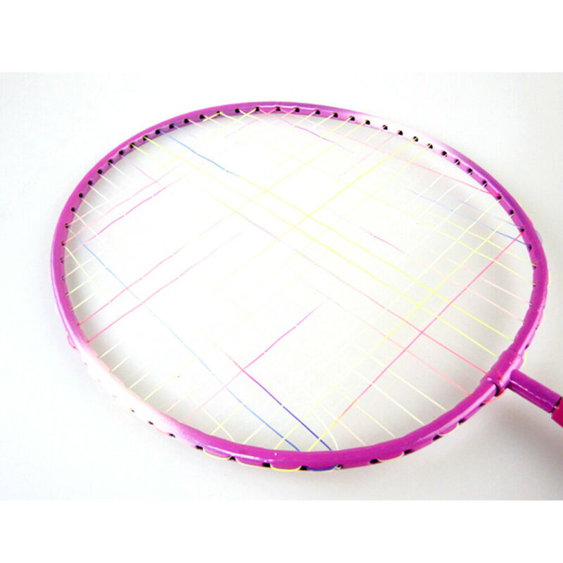 UK HOT 1 Pair Sport Badminton Rackets Sports Cartoon Suit Toys for Youth Kids~