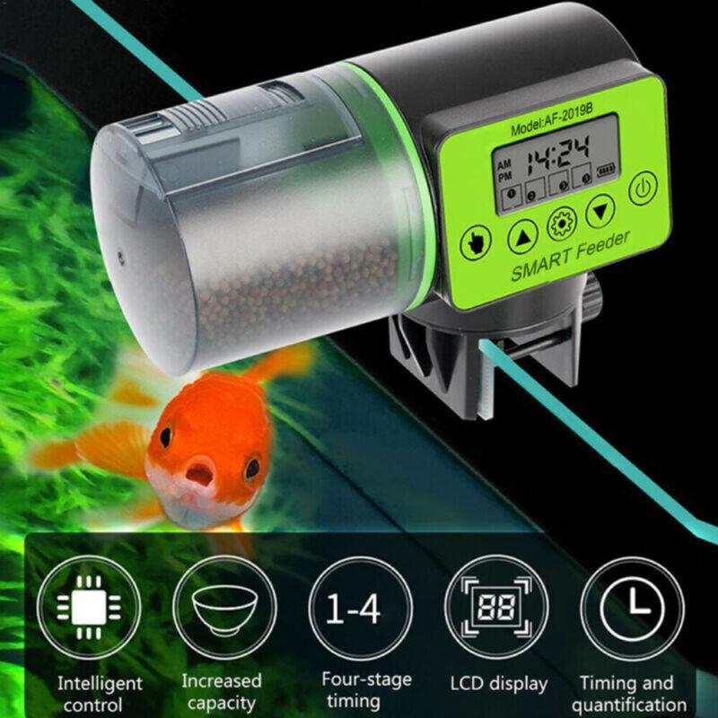 Digital Automatic Fish Feeder Fish Tank Aquarium Home Use wi