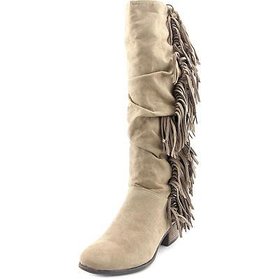 Madden Girl Pondo Women  Round Toe Synthetic Tan Knee High Boot