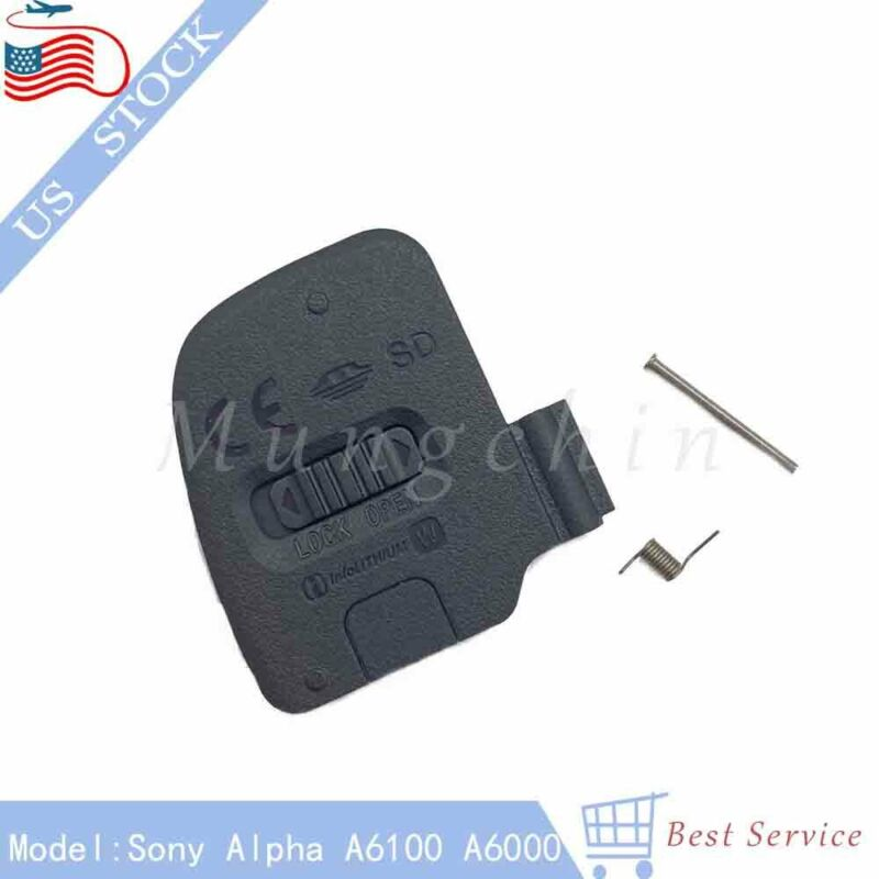 Replace Parts For Sony A6000 ILCE-6000 Battery Cover Battery Door Lid New Black