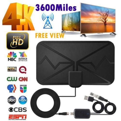 3600 Miles TV Antenna Upgraded Newest HDTV Indoor Digital Amplified 4K 1080P US Antennas
