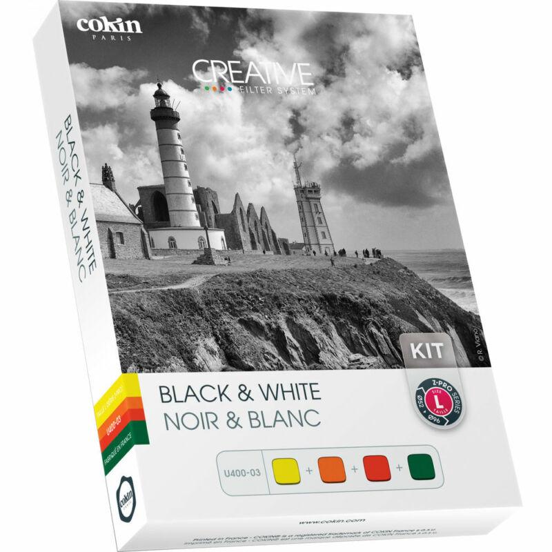 Cokin Z Series Black & White - Yellow / Orange / Red / Green - Resin Filter Kit