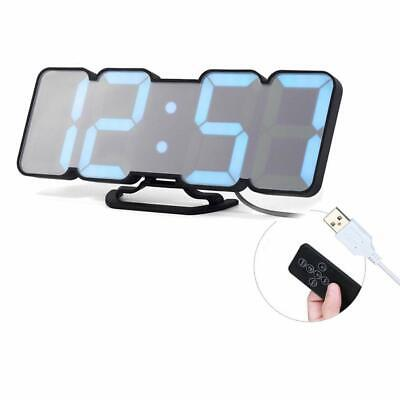 3D Wireless Remote Digital Wall Alarm Clock 115 Color LED Digital Voice Control