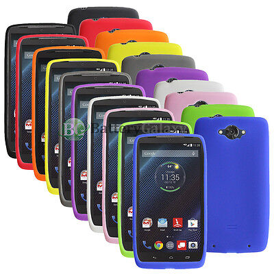 Turbo Rubber - CLOSEOUT LOT Soft Slim Rubber Gel Case for Android Phone Motorola Droid Turbo