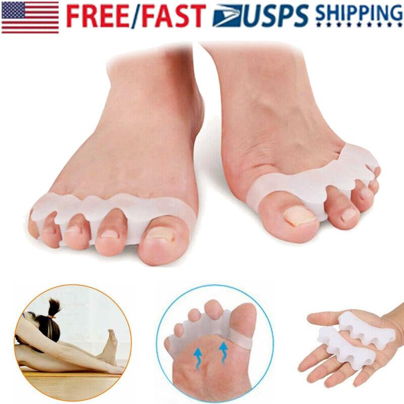 1 Pair Bunion Corrector Toe Separator Orthotics Straightener Pain Silicone Gel