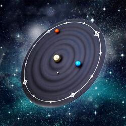Orbit Planet Clock Magnetic Galaxy Ball Clocks Home Wall Mounted Desktop Decor