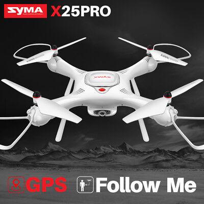 UK Follow Me RC Drone Quadcopter SYMA X25PRO GPS WIFI FPV HD Camera APP Control