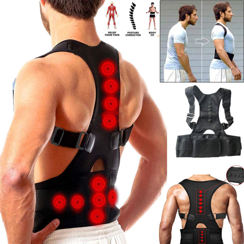 Support magnetic rear shoulder support with posture braces f
