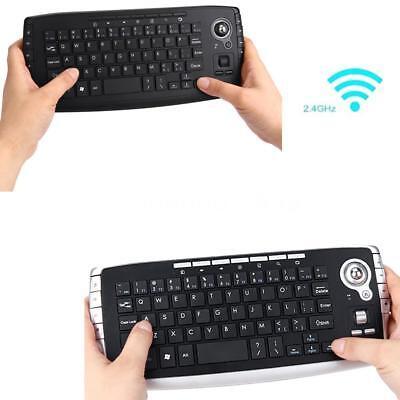 Mini 2.4Ghz Wireless Mini Keyboard W/Trackball Mouse For PC Android TV BOX A9N7 Wireless Mini Trackball Keyboard