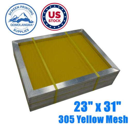 "US Stock 6 PACK Aluminum Silk Screen Printing Frame - 305 Yellow Mesh 23"" x 31"""