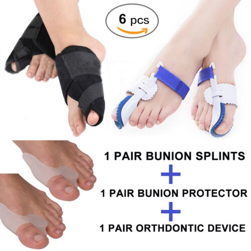 6 x Big Toe Straightener Bunion Hallux Valgus Corrector Night Splint Pain Relief Health & Beauty