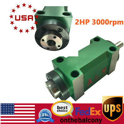 Mt2 Power Head Spindle Motor 3000rpm Drilling Milling Tapping Spindle Unit Cnc