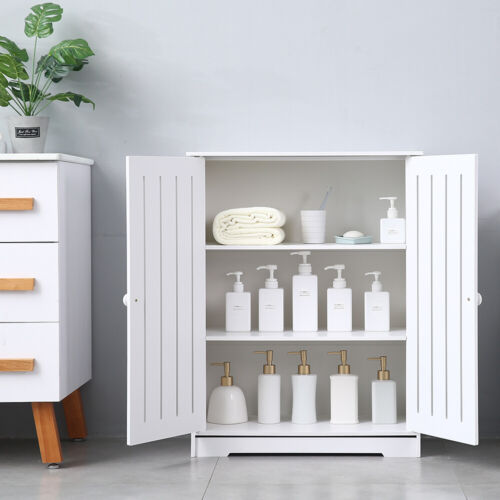 Storage Cabinet Double Door Shelf Bookcase Pantry Cupboard C