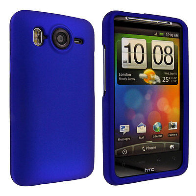 Blue Snap-On Hard Case Cover for HTC Inspire 4G Cover Blue Snap