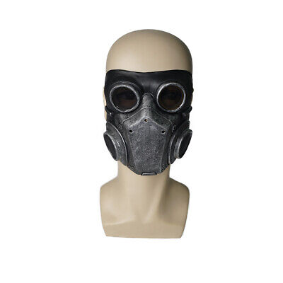 Halloween Latex Half Face Masks Skull Breathable Steampunk Gothic Adult Costume